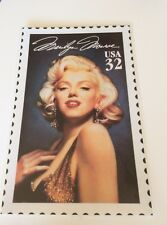 Marilyn Monroe 32 cent Stamp Laminated Poster Print c.1995 US Gold Dress