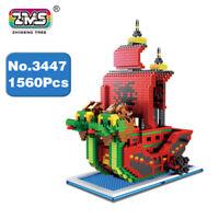 ZMS3447 Kinder Spielzeug Nine Snake Pirates Ship Bausteine Blocks