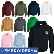 GILDAN (18500) EMBROIDERED HOODIE PERSONALISED CUSTOM EMBROIDERY STITCHED HOODY