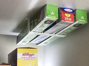 Foil/Cling Film/Grease Proof Paper Cupboard Under Shelf Holder : White
