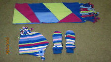 Baby Toddler 36M - 4T The Children's Place Matching Hat Mittens Gloves Scarf Set