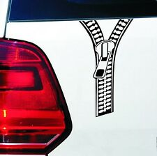 Car Bumper/ Window/ Body/ Laptop/ Furniture etc Vinyl Decal Sticker ZIPPER Black