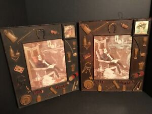"FABULOUS PAIR OF 1920S DECORATIVE ""SWEET MEMORIES"" PICTURE FRAMES"