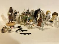 1995-2000s  Star Wars collectable Lot playskool hasbro kenner chewbacca and more