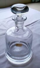 Round Hand Made Non Lead Crystal Decanter. Made in Norway 50 years VAITOR 1986