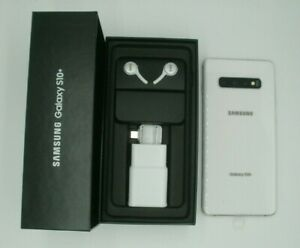 Samsung Galaxy S10+ 512GB, White, Sprint, New in Box, Headset, USB Connector