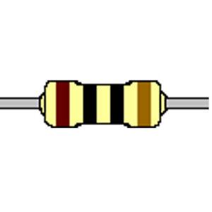 Kohleschicht-Widerstand 10 Ohm 5% 0,25W Bauform 0207 gegurtet