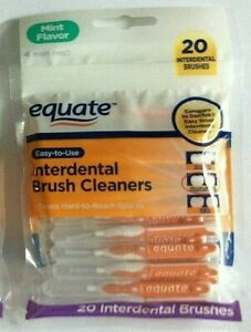 1 Pack of Equate Interdental Standard Brush Cleaners 20ct