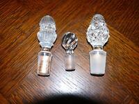 3 Kristall Flaschenstöpsel Flaschenverschluß Stöpsel für Flaschen Karaffen