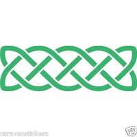 Celtic Narrowboat Knot Rectangular Sticker Decal Graphic STYLE 1 - SINGLE