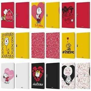 PEANUTS SEALED WITH A KISS LEATHER BOOK CASE FOR MICROSOFT SURFACE TABLETS