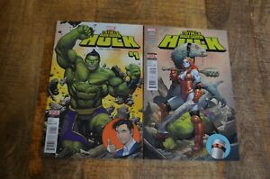 Totally Awesome Hulk #1 2 Marvel Comic Book Lady Hellbender app Lot of 2 NM 9.2