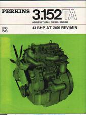 Perkins Série P Ind Moteur Diesel Handbook 1956 #6589 Agriculture Autres