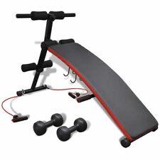 vidaXL Banco Abdominal Multi-Funcional Ajustable Pesas 3Kg Entrenamiento Fitness