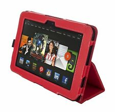 """NEW Kyasi Seattle Classic Tablet Case for Amazon Kindle HDX 8.9"""" Rad Red"""