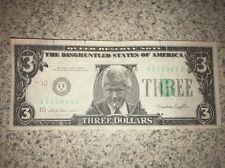 1993 Slick Reserve Note $3 Dollar President Bill Clinton Novelty Money