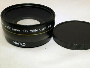 Polaroid Studio series 0.43X Wide Angle Lens AUX Attachment 58mm threaded