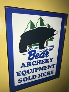Bear Archery Equip. Bow Hunter Store Bar Advertising Man Cave Sign