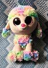 "TY Beanie Boos Rainbow Poodle 9"" Plush Dog No Tag"