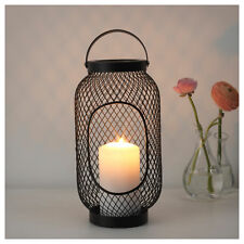 IKEA TOPPIG Black Steel Lantern for Pillar Candles (36cm)