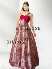 BE THRILLED! ONE SHOULDER FUCHSIA LEOPARD BEADED FORMAL/EVENING/BALL AU 14/US 12