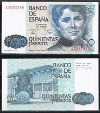 ESPAÑA - BILLETE 500 PESETAS 1979 ROSALIA DE CASTRO Serie A  SC  UNC