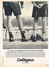 PUBLICITE ADVERTISING 015  1965  COLLEGIEN   chaussettes enfants
