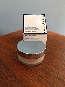 Mary Kay Mineral  Powder **BEIGE 1**  040987 Lot of 2 plus brush=3 items! BNIB