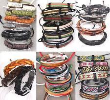 wholesale lot of 12 PCS leather bracelets , bangle
