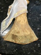DRESS BARBIE DOLL PRINCESS OF ANCIENT GREECE RIPPLED COPPER & WHITE WRAP GOWN