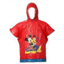 Rain Poncho Disney Mickey & Pluto Boy One Size Red NIP