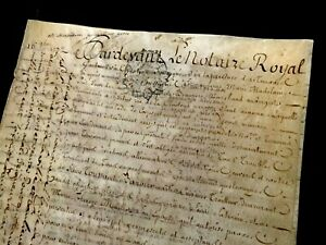 ANTIQUE VELLUM MANUSCRIPT 1772    8 pages