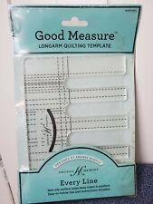 Good Measure Amanda Murphy Longarm Quilting Template Every Line