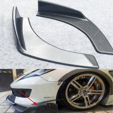 2Pcs Car Vehicle Bumper Spoiler Front Shovel Decorative Scratch Resistant Wing