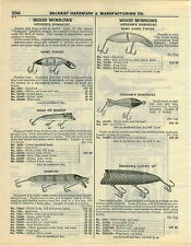 1932 PAPER AD Heddon's Wood Fishing Lure Lucky 13 Vampire Baby Game Fisher