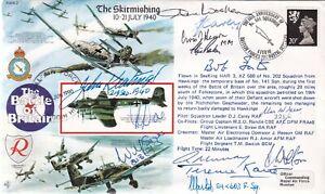 Battle of Britain Skirmishing 10-21 July 1940 Signed 13 Battle of Britain Pilots
