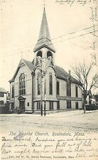 1901-1907 Lithographed PC Baptist Church Roslindale MA Suffolk County Posted