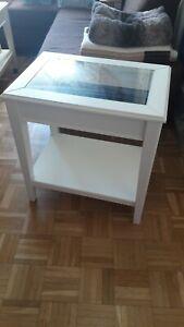 IKEA LIATORP Beistelltisch Holz Weiss mit Glas