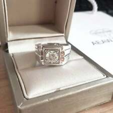 Wedding Ring 14Kt White Gold Over 8 3.72 Ct White Round Diamond Man's Engagement