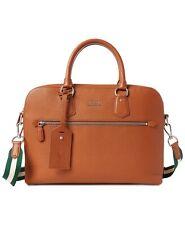 Polo Ralph Lauren Pebble Grain Leather Briefcase Messenger Bag