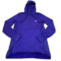 Adidas Womens Jacket Hoodie Size Large Purple