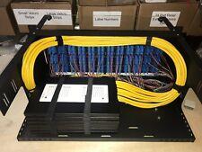 4RU 144 Port Fiber Optic Patch Panel w/12 SCUPC SM Pigtails / 6x24F Splice Trays