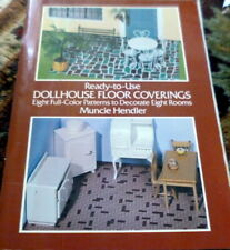 Great Vintage Dollhouse Ready to Use Floor Coversings Book