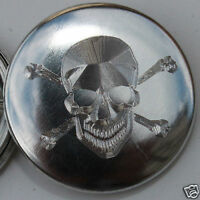 Gravure SKULL HEAD / TETE DE MORT Ø25MM PIN BADGE BUTTON