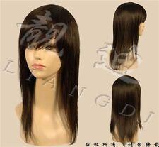 FIXSF57 charming long straight dark brown natural health wigs women's hair wig
