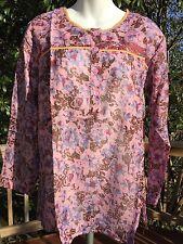 New_Boho Peasant Kurta Shirt_Paisley-Print Cotton Tunic Top_Sizes S, M, L, XL