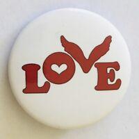 Love Bird Button Badge Pin Vintage (N15)