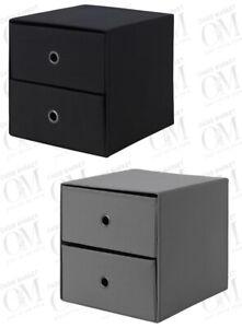 IKEA FLARRA Mini Chest With Drawers Storage Kallax Unit Organiser Foldable