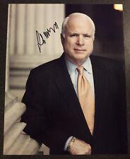 Senator JOHN MCCAIN Autograph - beautiful 11 x 14 photo - Authentic, w PROOF/COA
