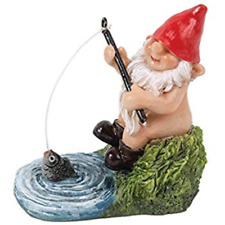 Miniature World Gnaughty Gnome Fishing